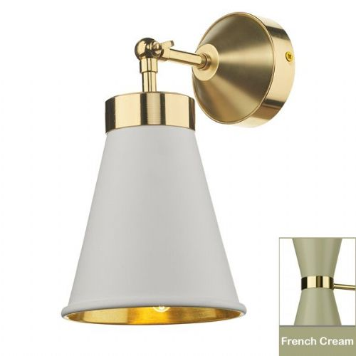 Hyde Single Wall Bracket complete with French Cream Metal Shade (Hand made, 7-10 day Delivery)
